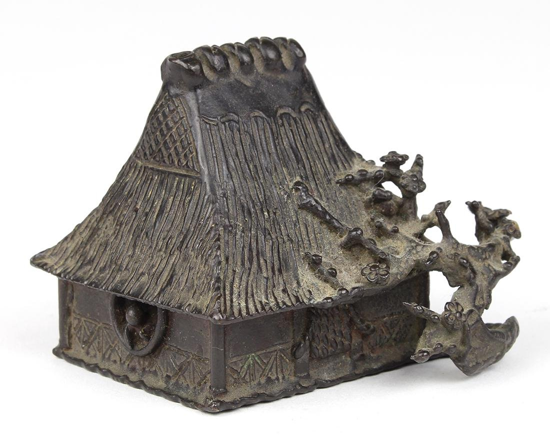 Japanese Bronze Water Dropper, House