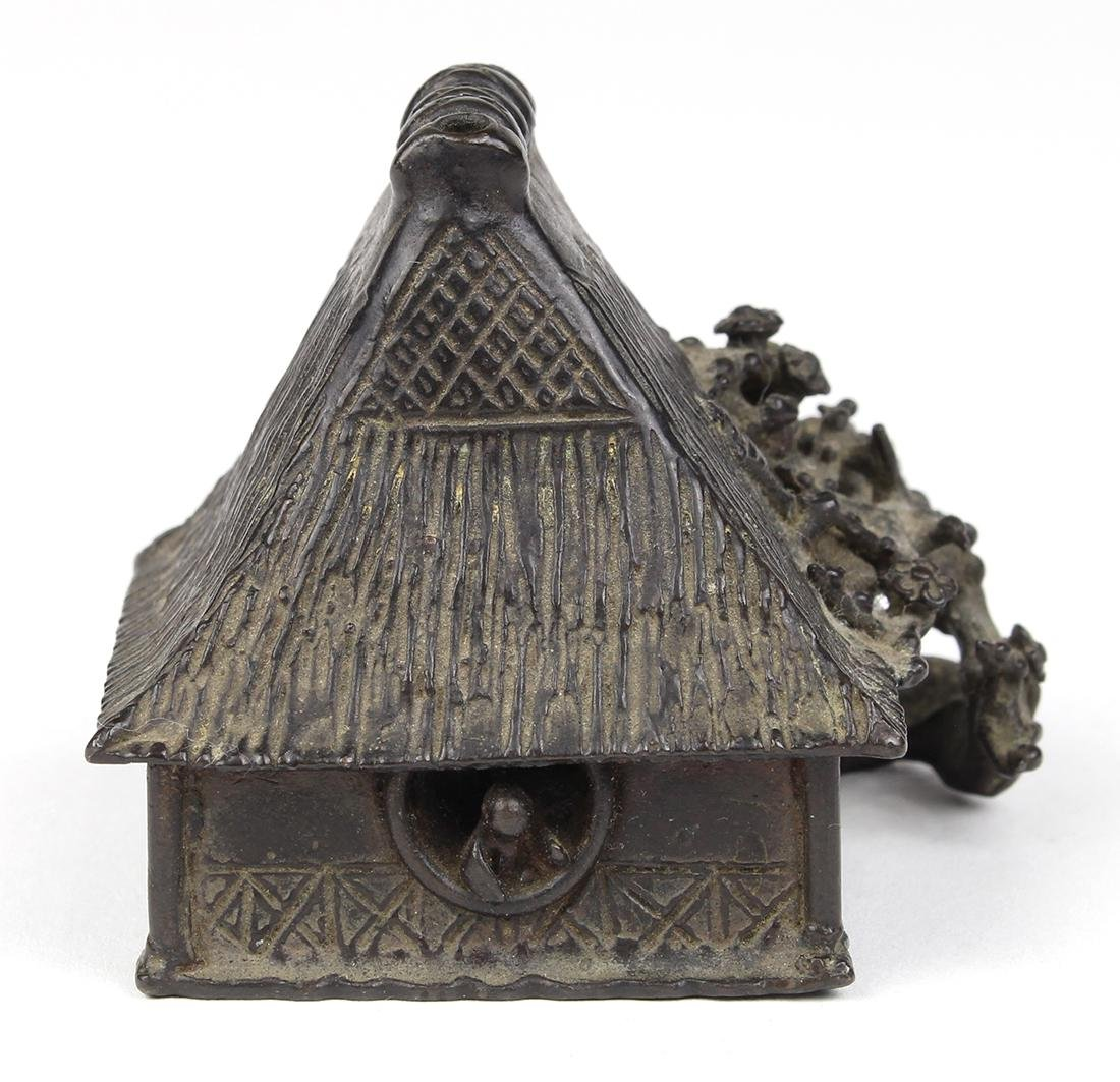 Japanese Bronze Water Dropper, House - 2