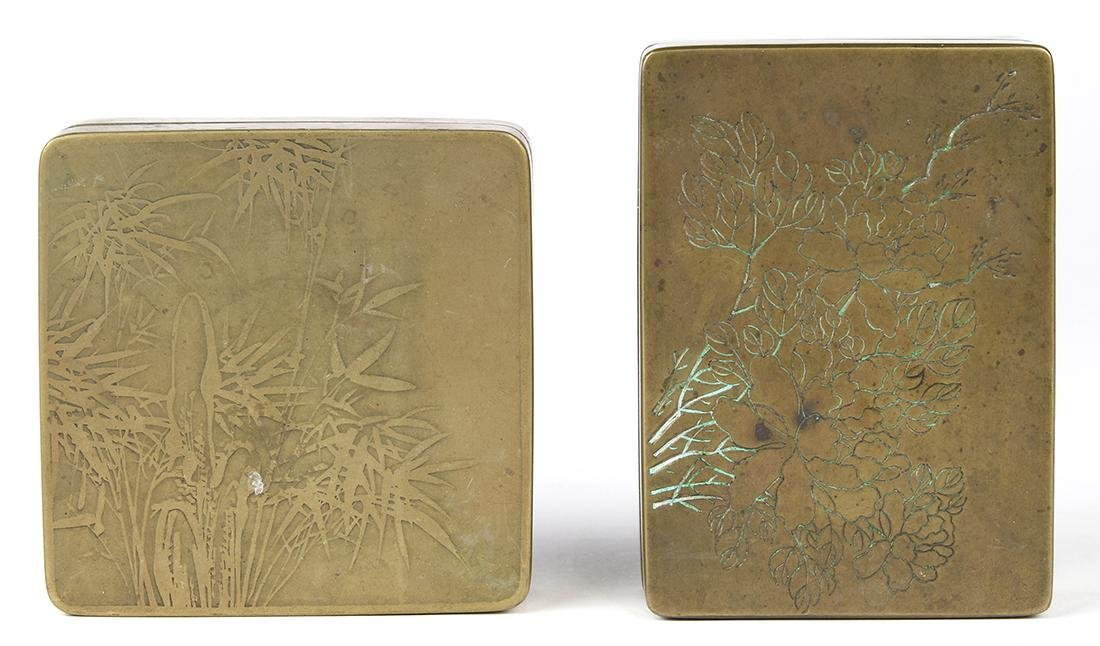 Two Chinese Ink Boxes