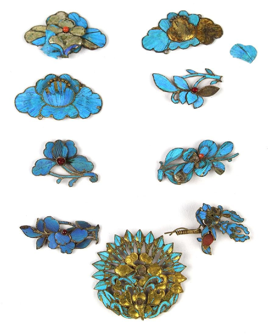 Chinese Kingfisher Feather Accessories