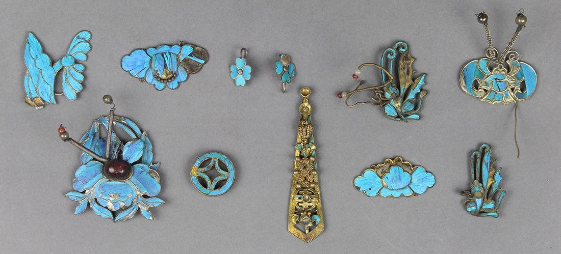 Chinese Kingfisher Hairpins/Accessories