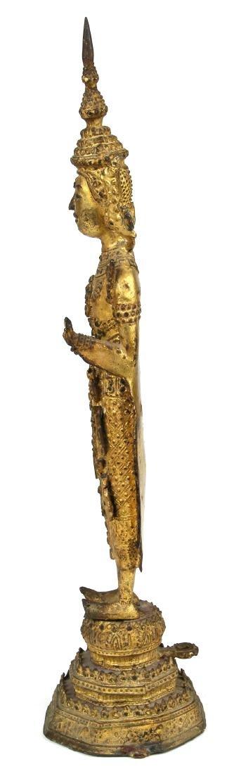 Thai Bronze Standing Buddha - 2