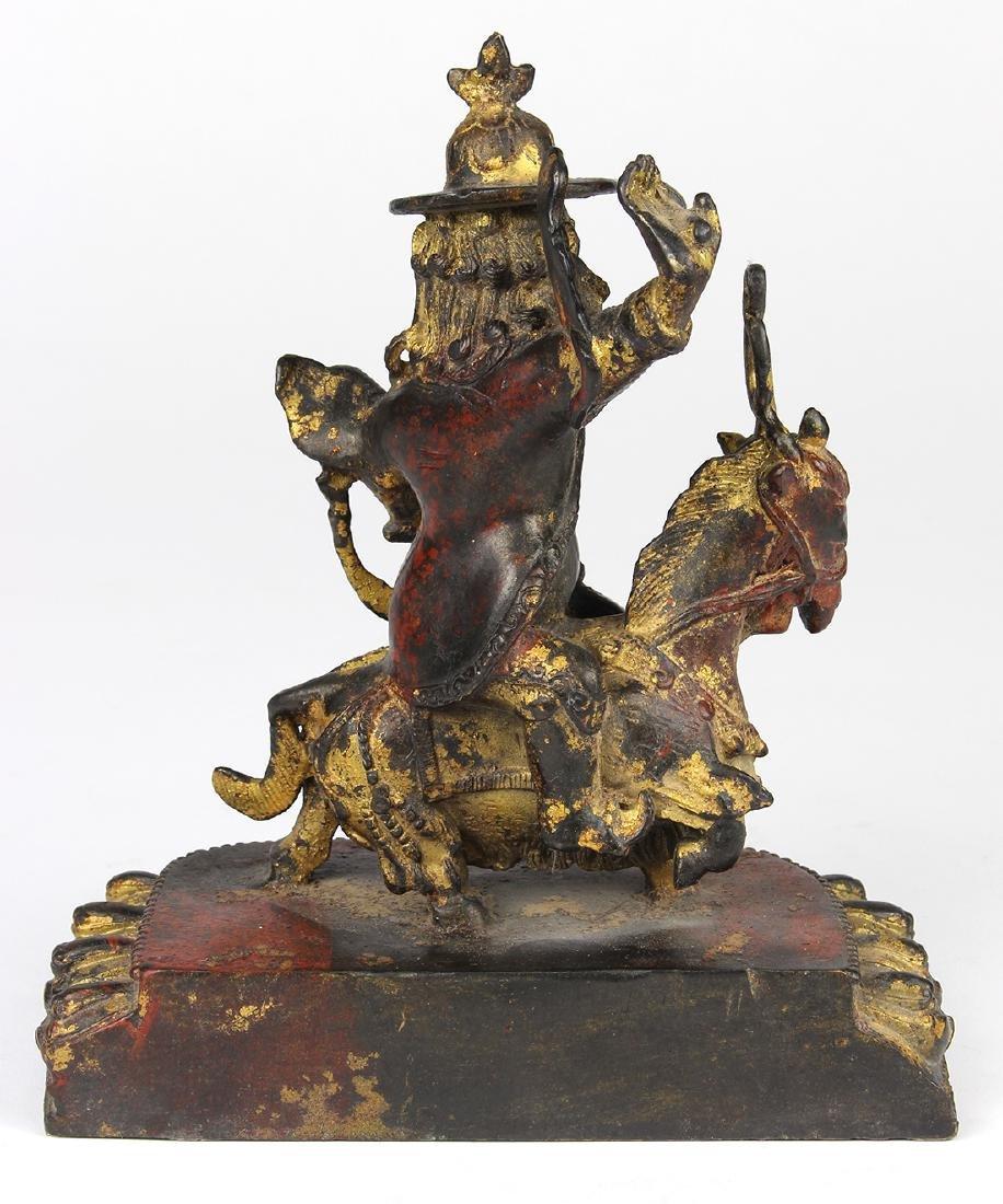 Sino-Tibetan Bronze of Dorge Legpa - 4