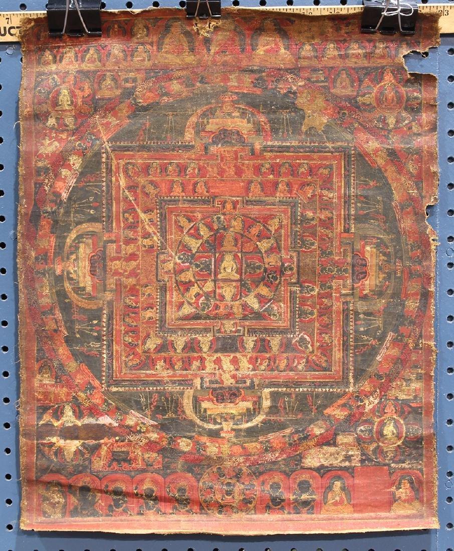 Himalayan Thangka, Vairocana Mandala