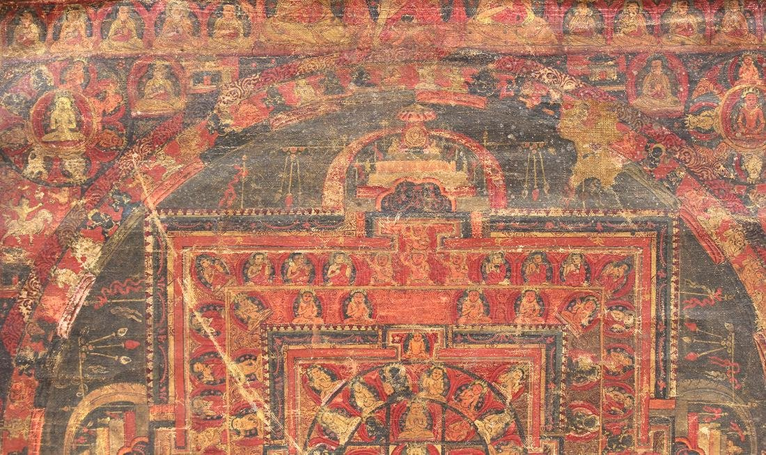 Himalayan Thangka, Vairocana Mandala - 4