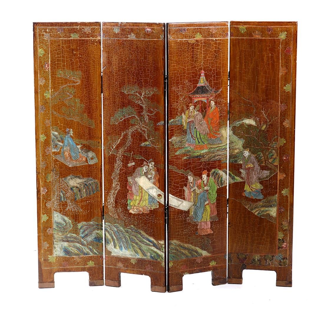 Chinese Four Panel Screen - 2