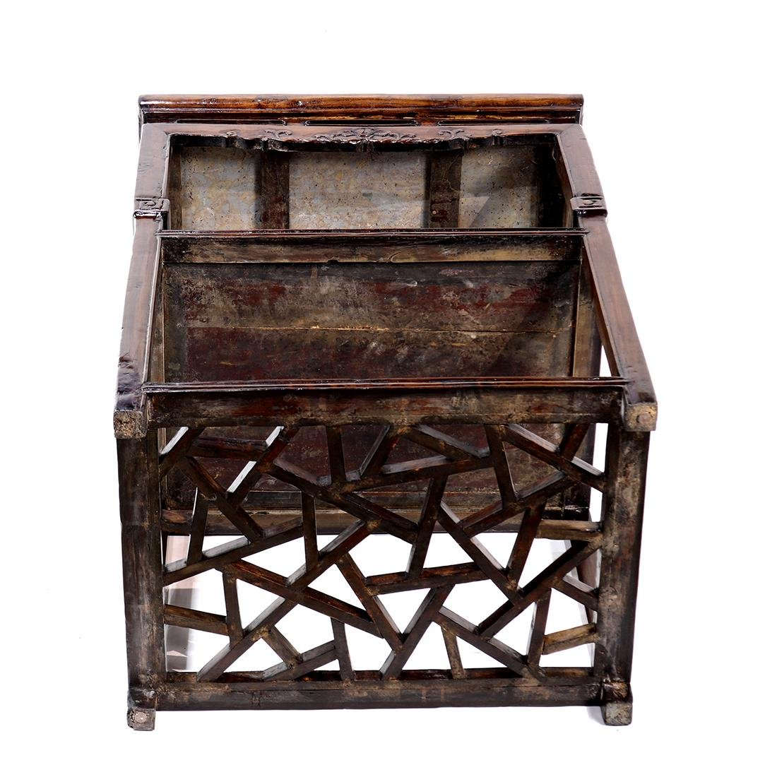 Chinese Marble Inset Tiered Stand - 4