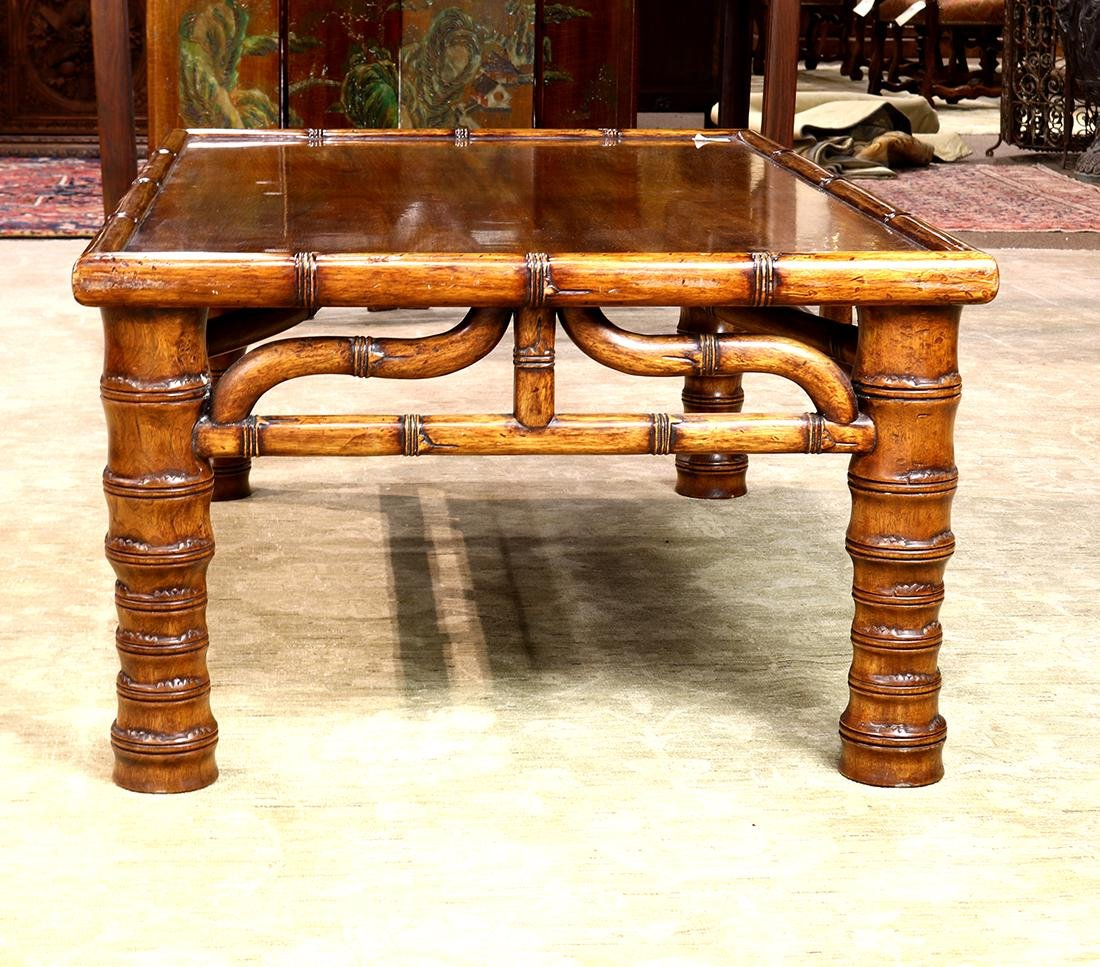 Asian Wood Low Table - 2