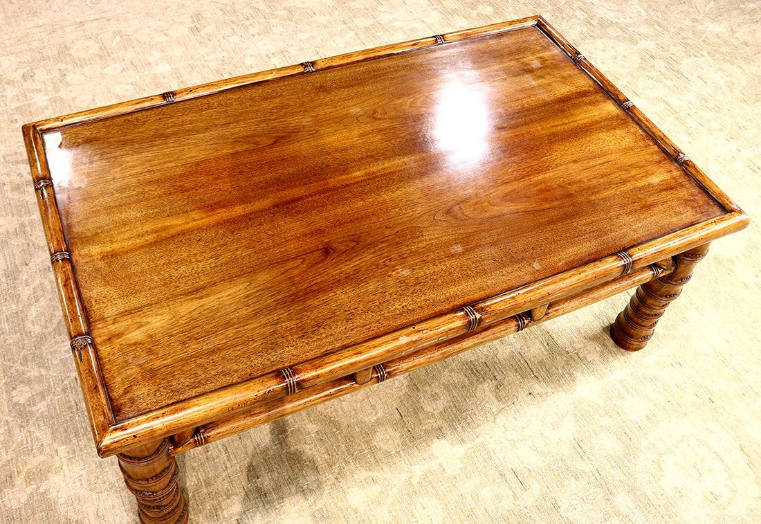 Asian Wood Low Table - 3