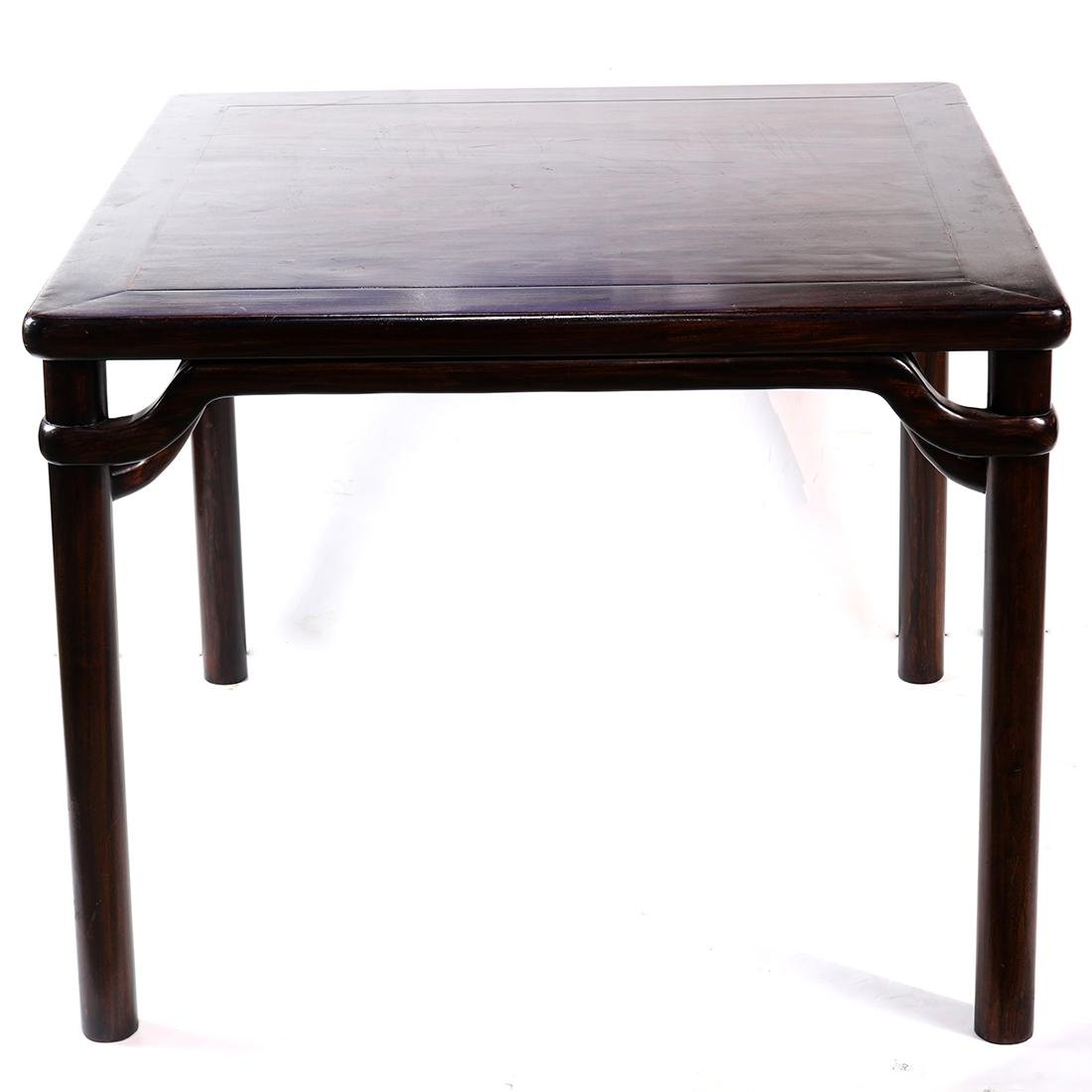 Chinese Wood Square Table - 2