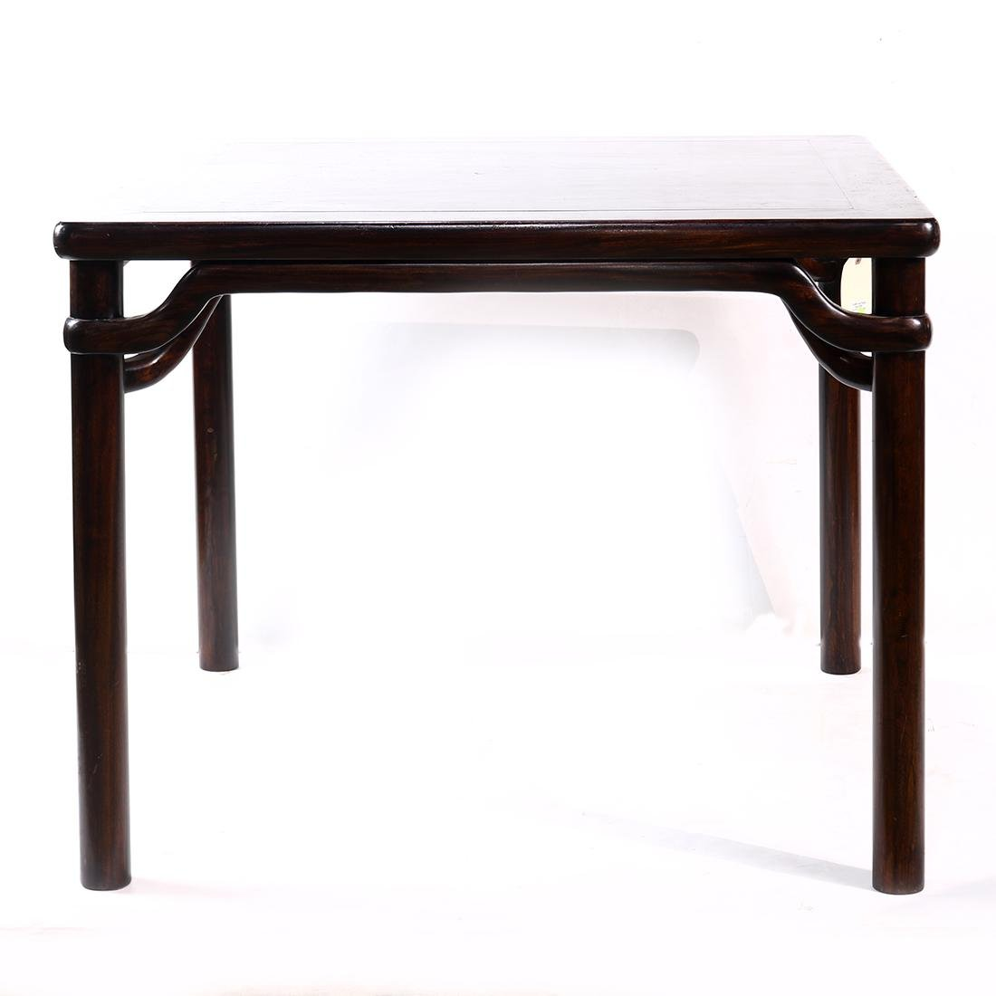 Chinese Wood Square Table - 3