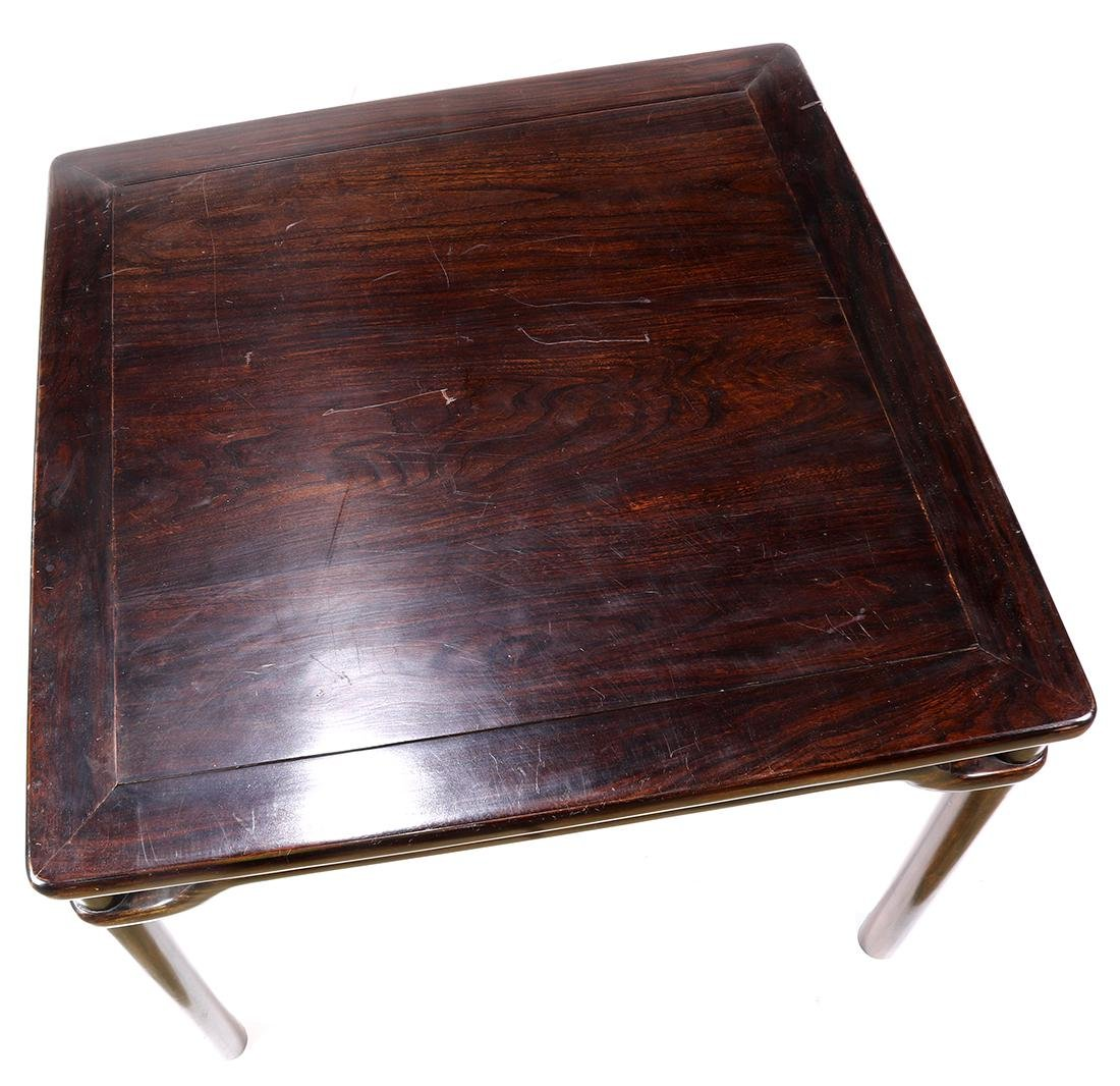 Chinese Wood Square Table - 5