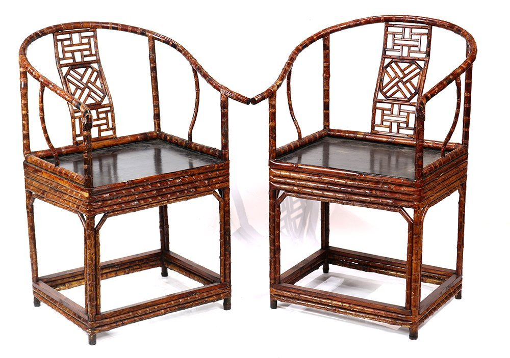 Chinese Bamboo and Wood Chairs