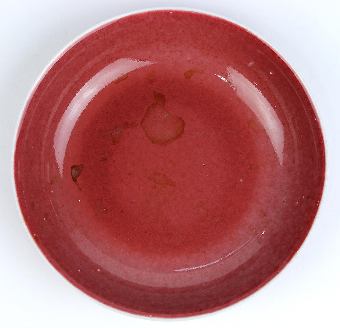 Chinese Ox Blood Glazed Plate