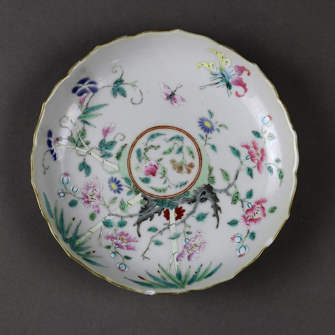 Chinese Porcelain Plate, Flowers