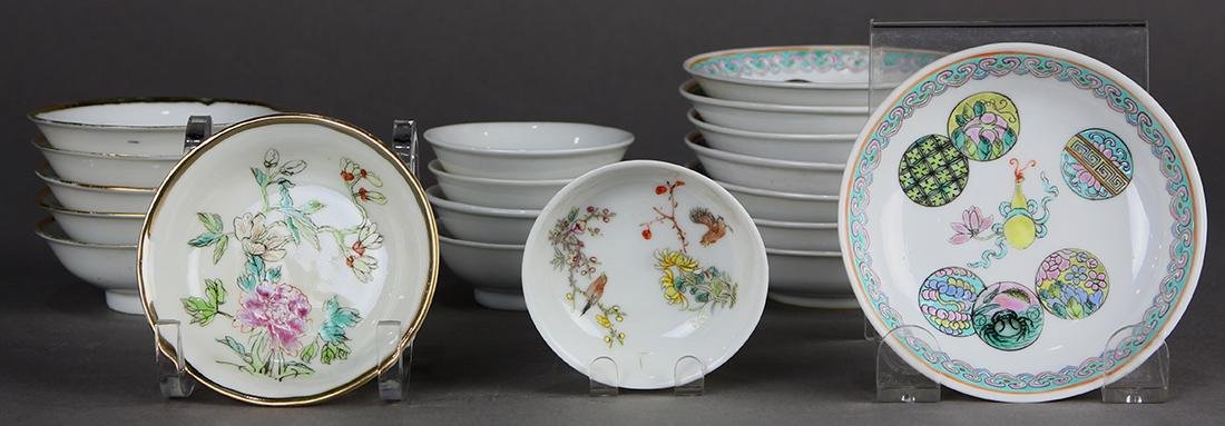 Chinese Enameled Saucers