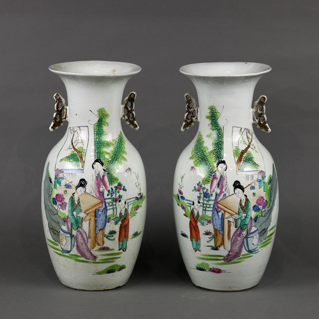 Two Chinese Porcelain Vases, Beauties/Child