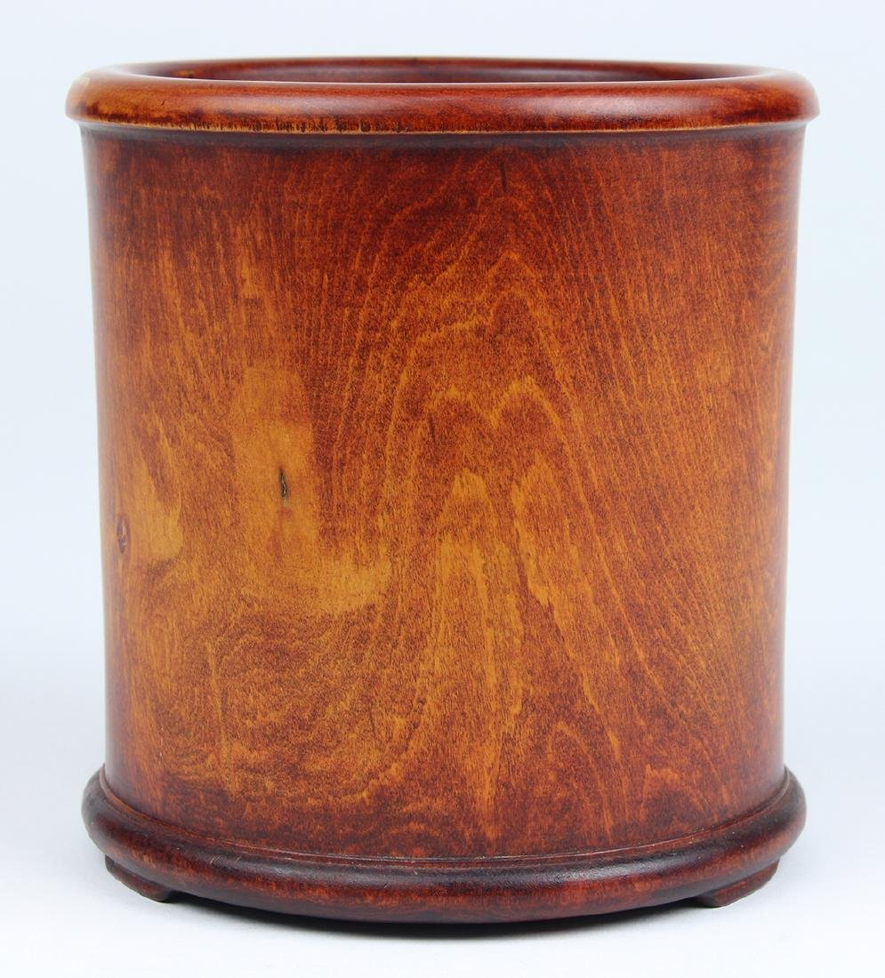 Chinese Wood Brush Pot
