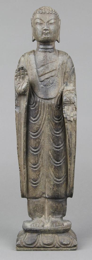 Asian Stone Buddha Figure