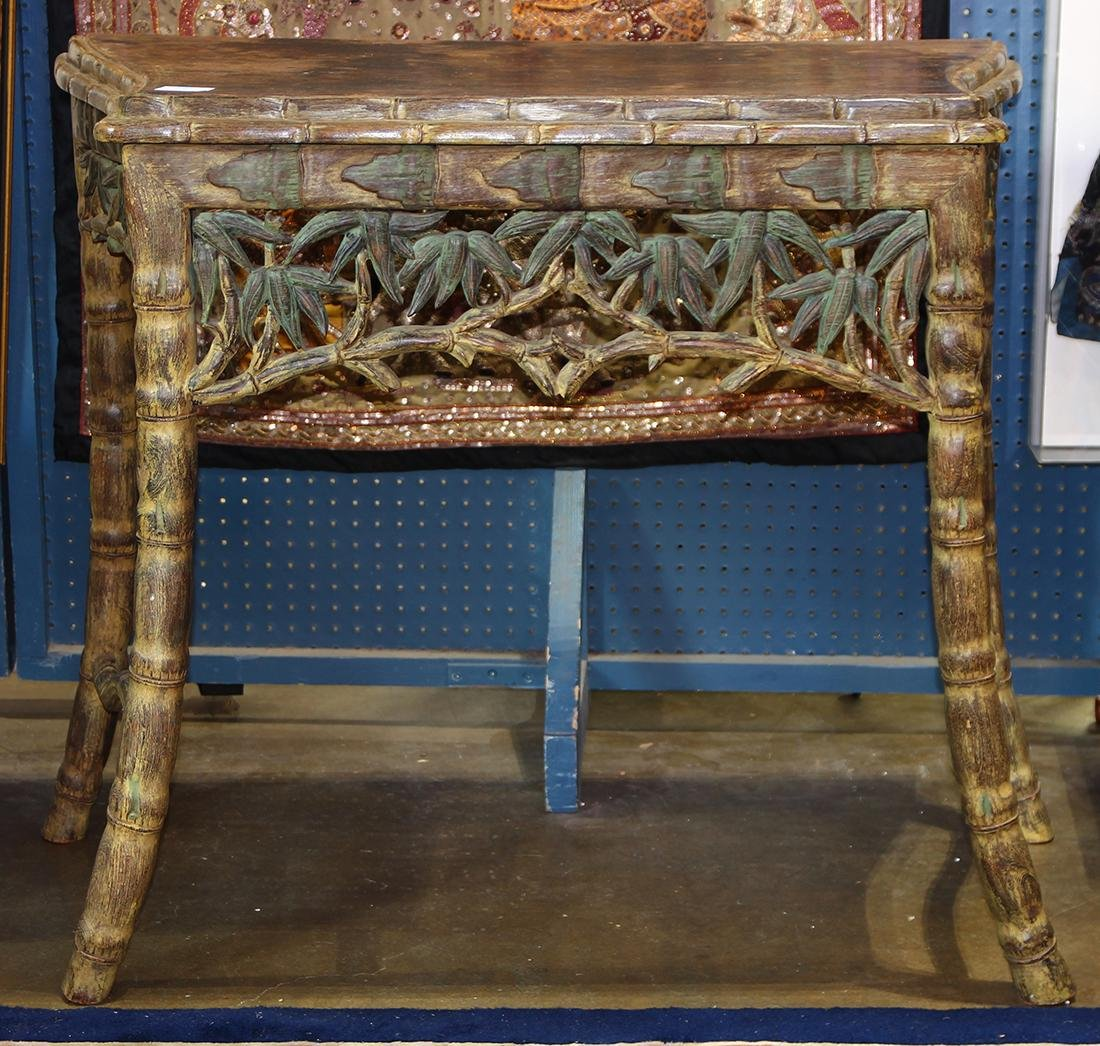 Chinese Faux Bamboo Table