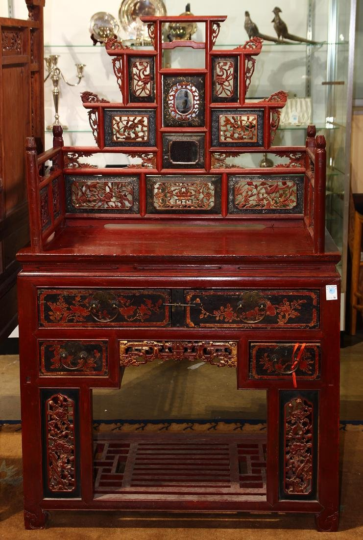 Chinese Lacquered Dressing Table