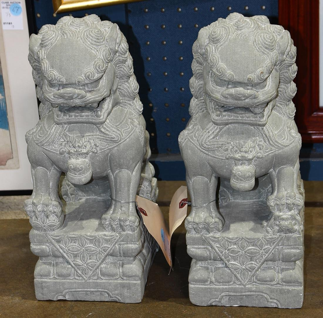 Chinese Sculptures of Fu-lions