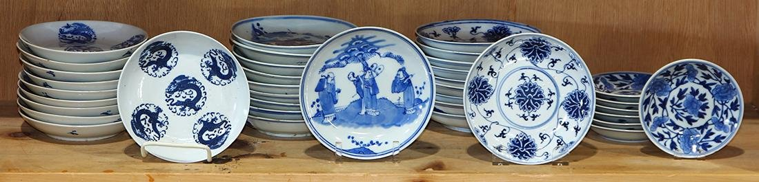 Group of Chinese Blue-and-White Dishes