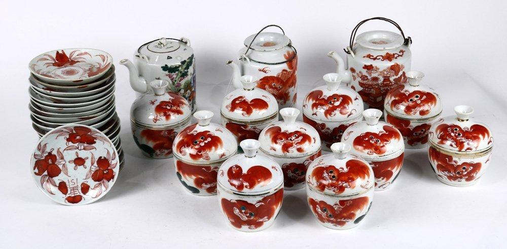 Chinese Porcelain Teapots, Bowls, Plates