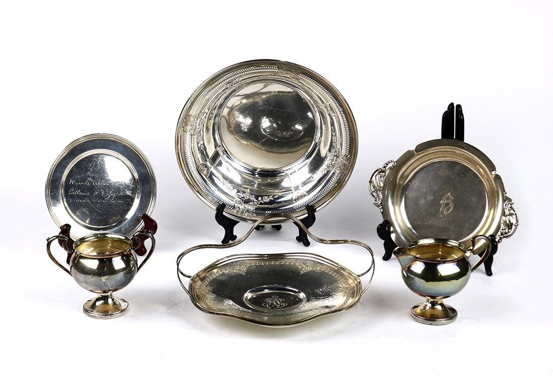 (lot of 6) Assorted American sterling silver table