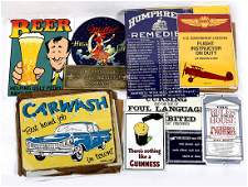 lot of 20 Tin Advertising sign group