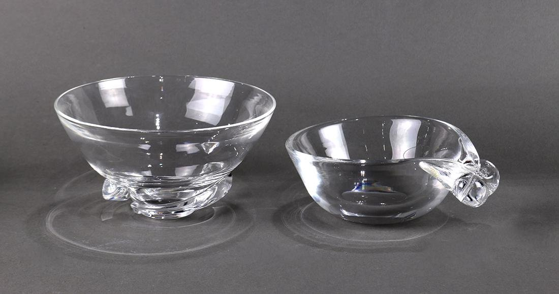 (lot of 2) Steuben glass group, consisting of two