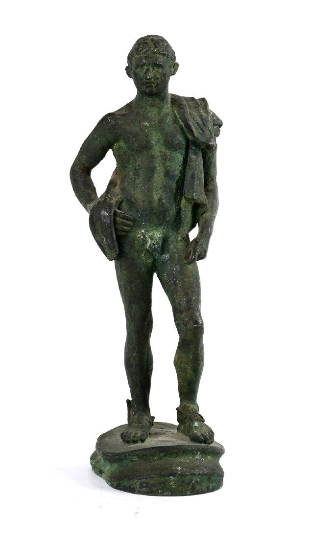 Iron Hermes statue, 19th Century, the Classical nude