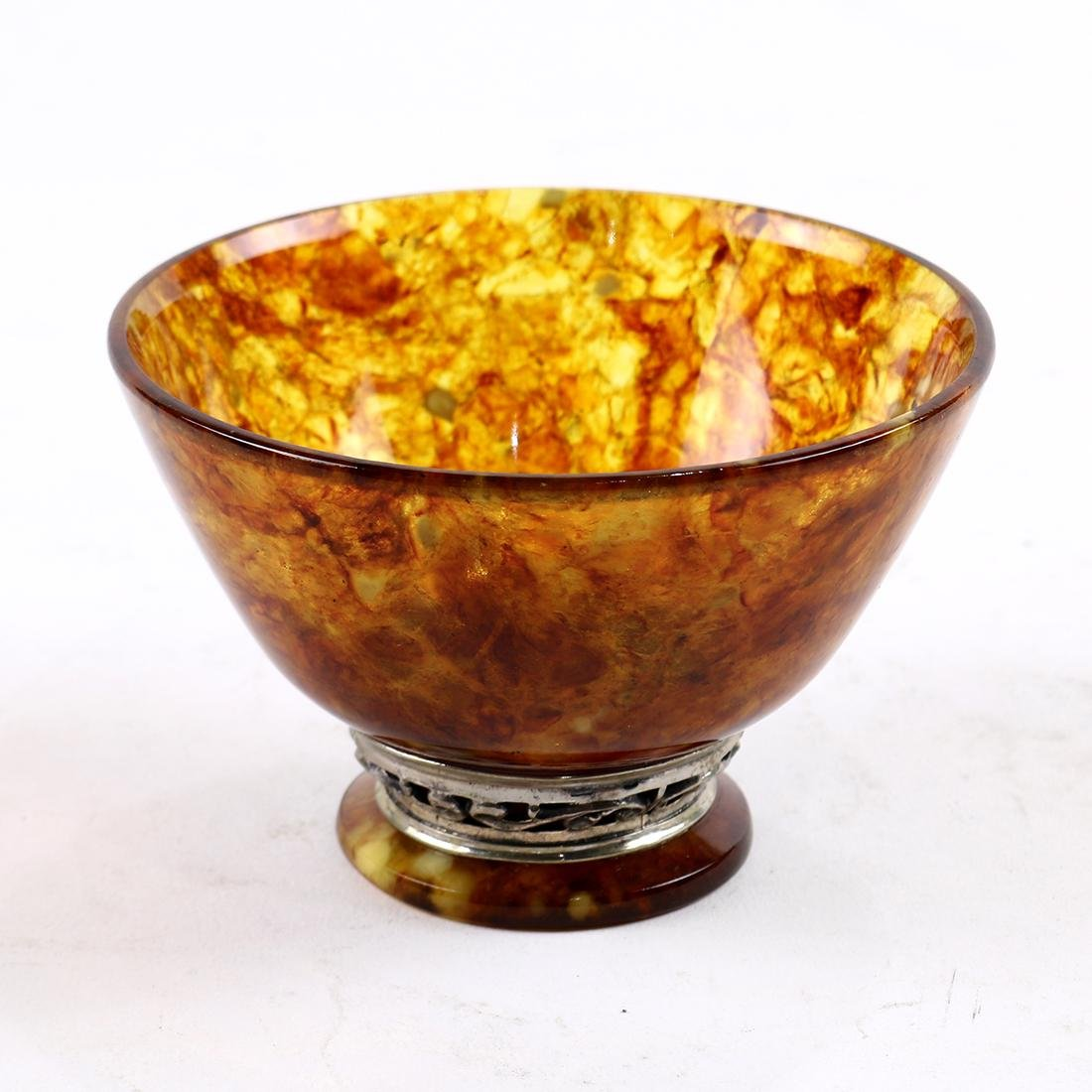 Russian Amber Palace finger bowl