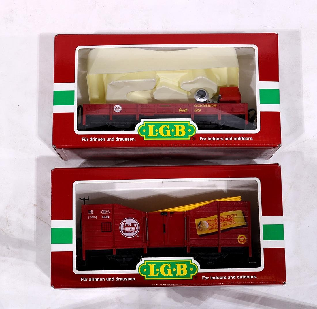 (lot of 2) German LGB collectors edition toy train