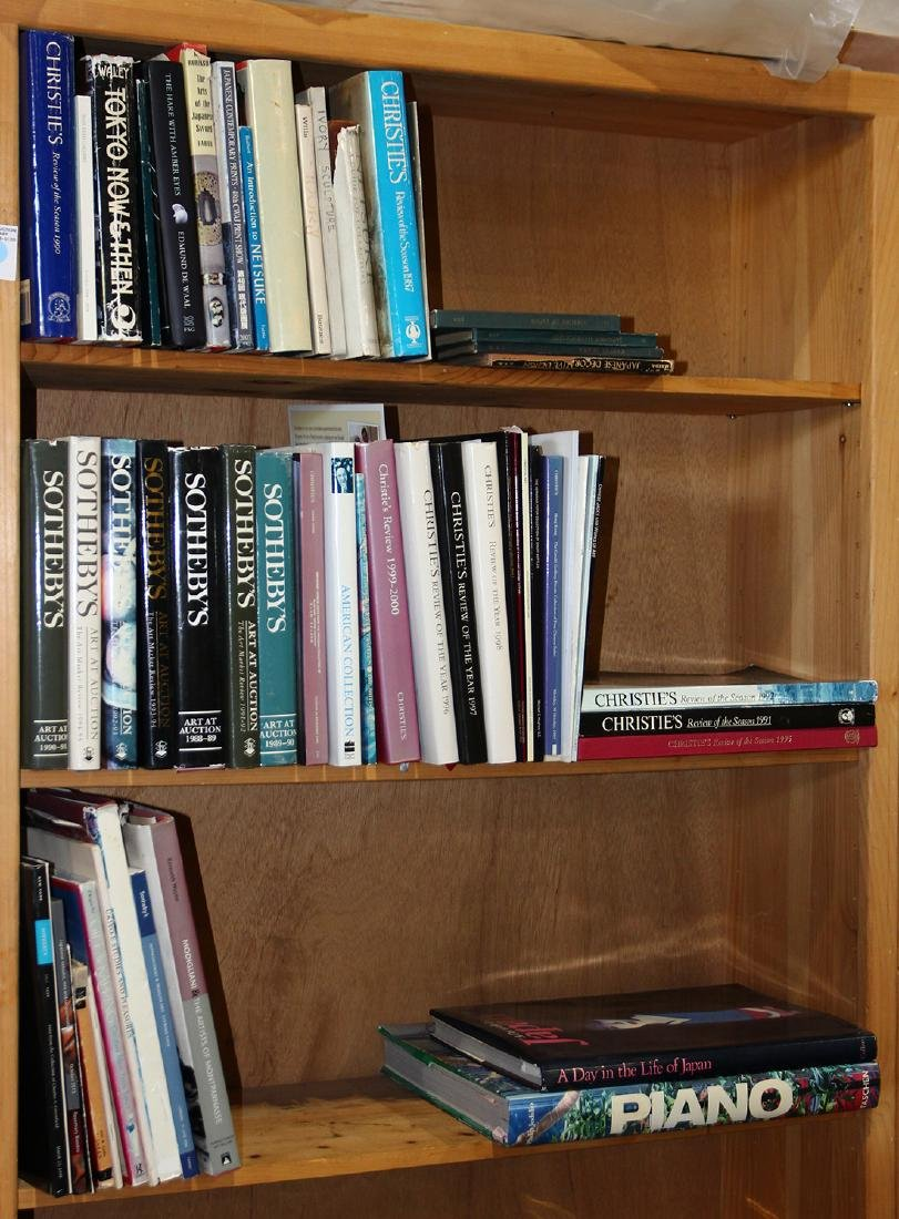 Three shelves of reference books relating to Japanese