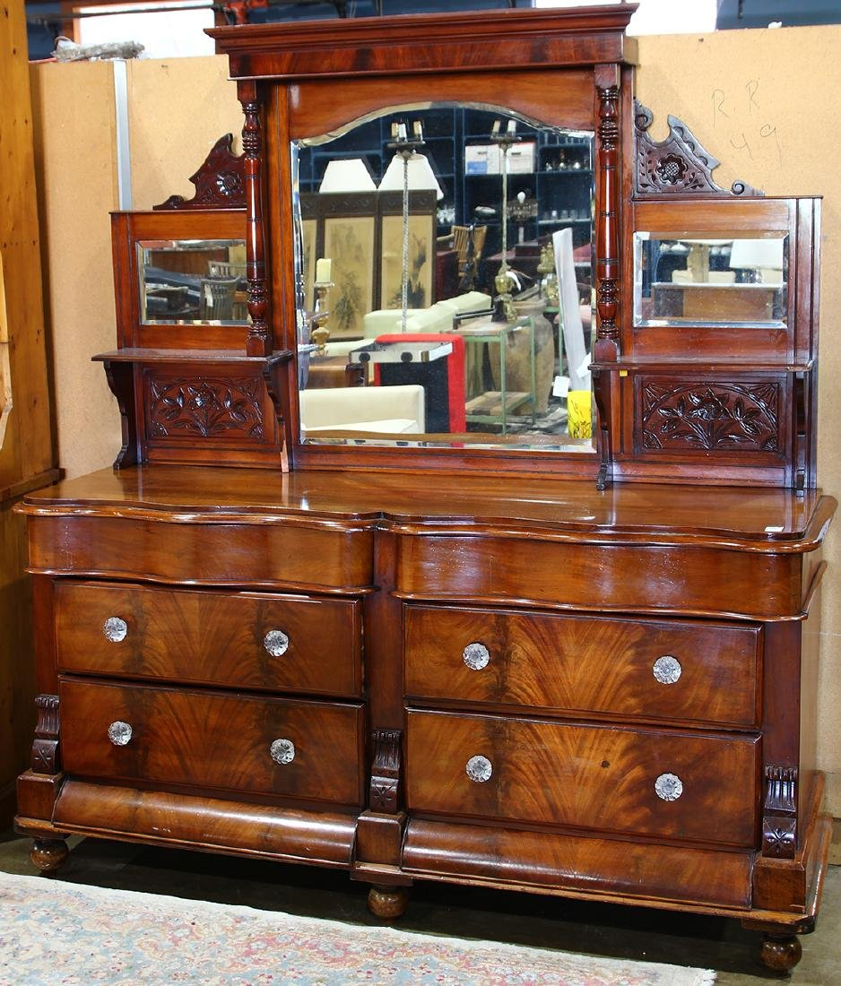 English sideboard, the superstructure having three