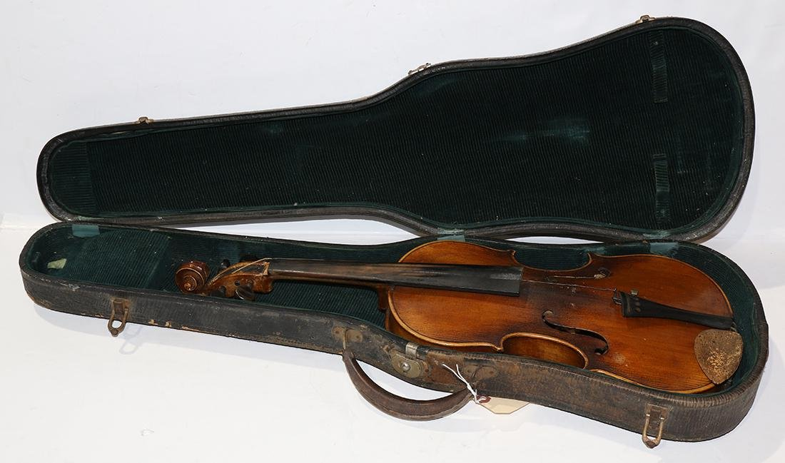 Continental student violin, with hard case, overall: