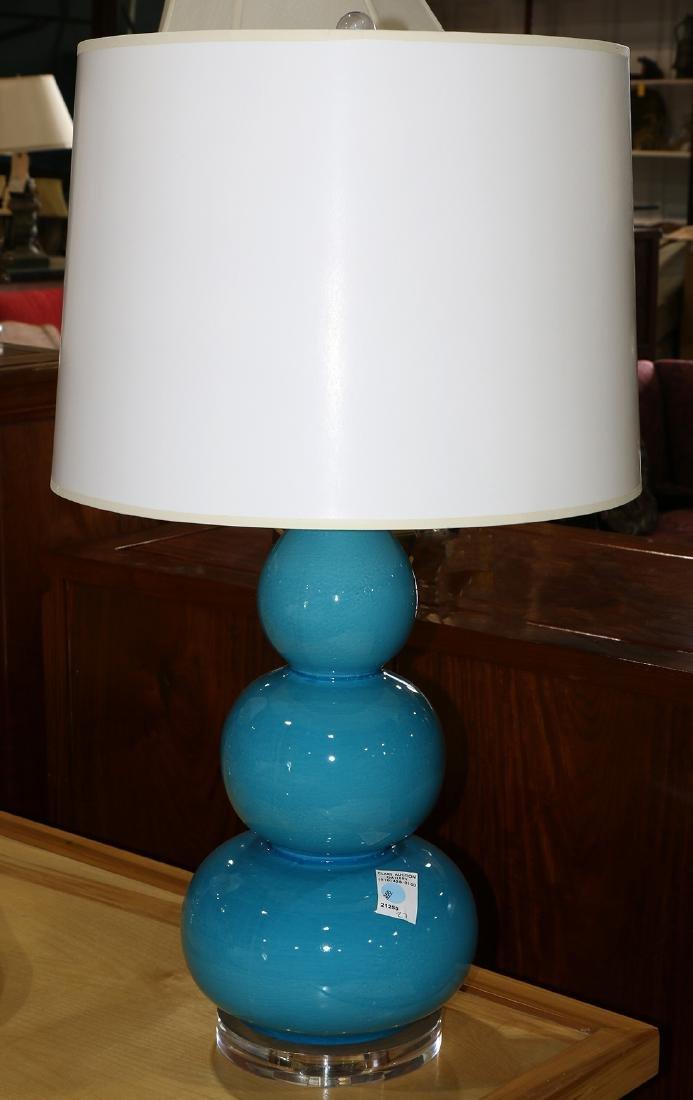 Mid-Century modern Murano style glass lamp