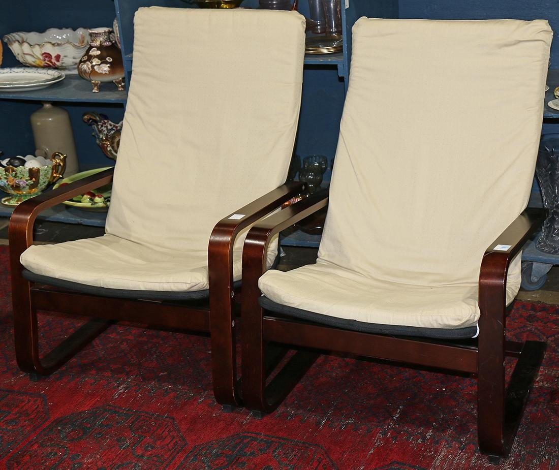 Pair of modern style armchairs