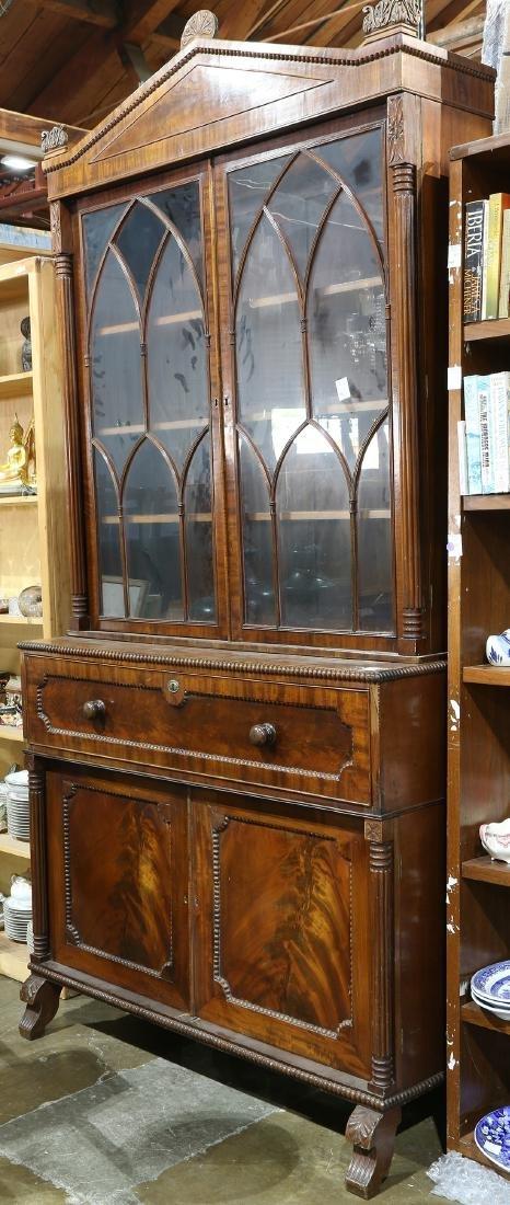 Classical mahogany bookcase secretary