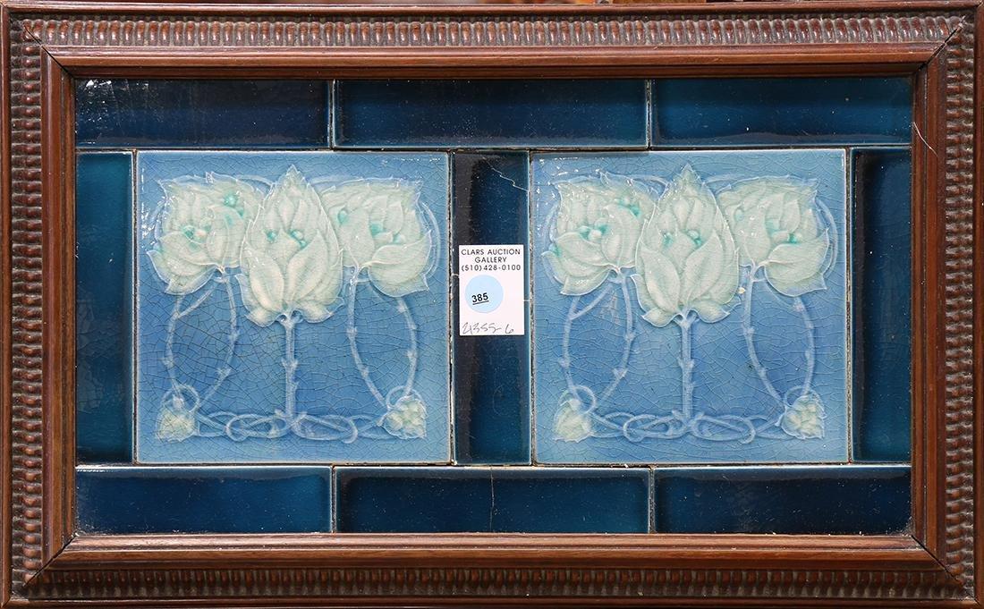 Framed Arts and Crafts tile trivet