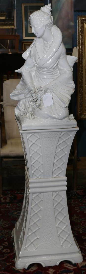 Hollywood Regency style ceramic sculpture