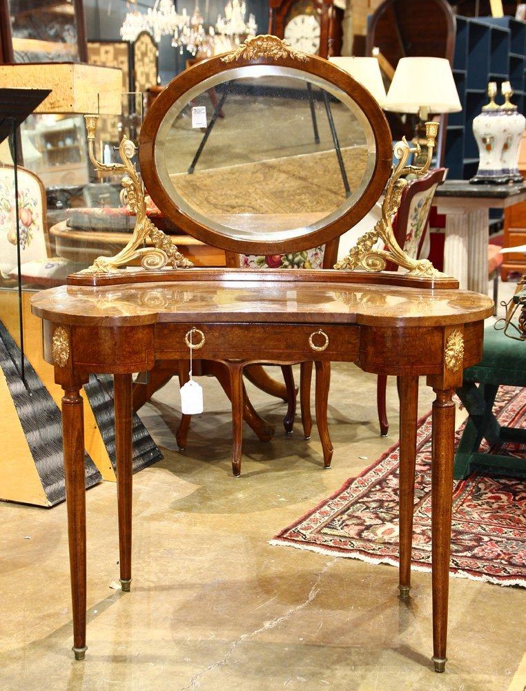 French Neoclassical style ormolu mounted vanity circa