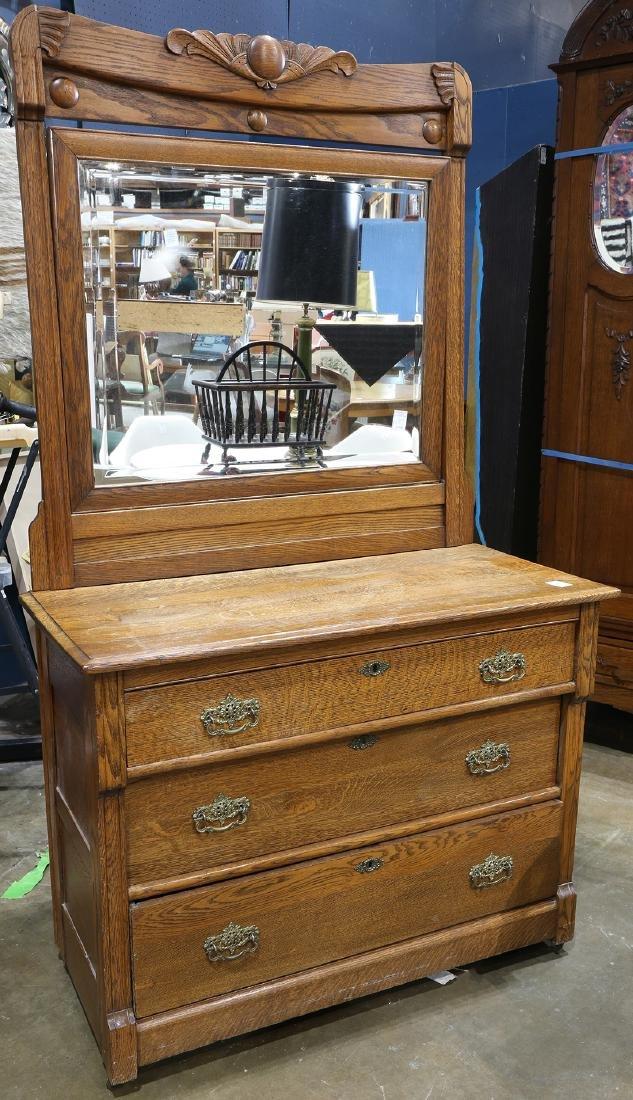 American oak chest