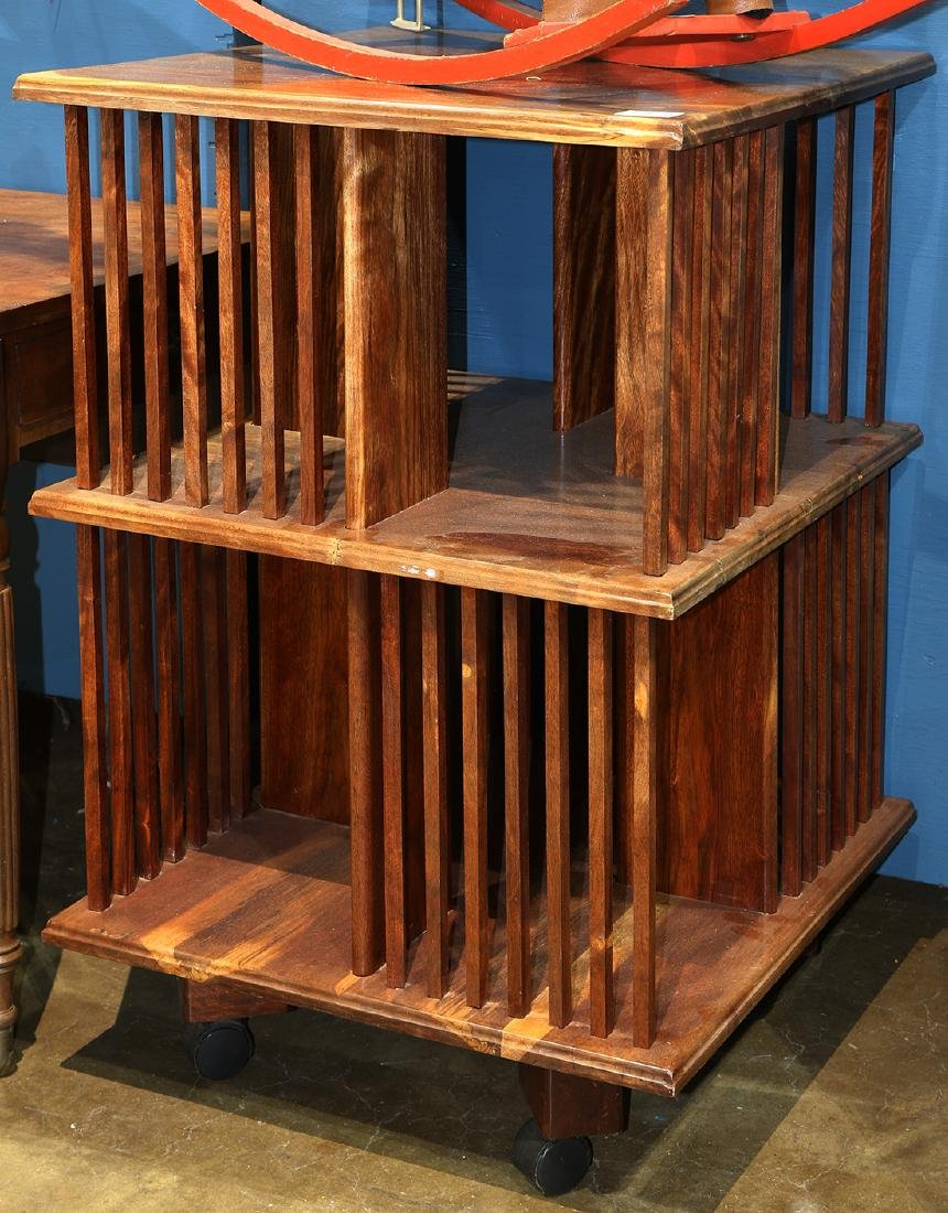 English mahogany revolving barrister bookcase, having a