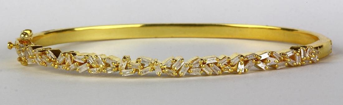 Diamond and silver gilt bracelet