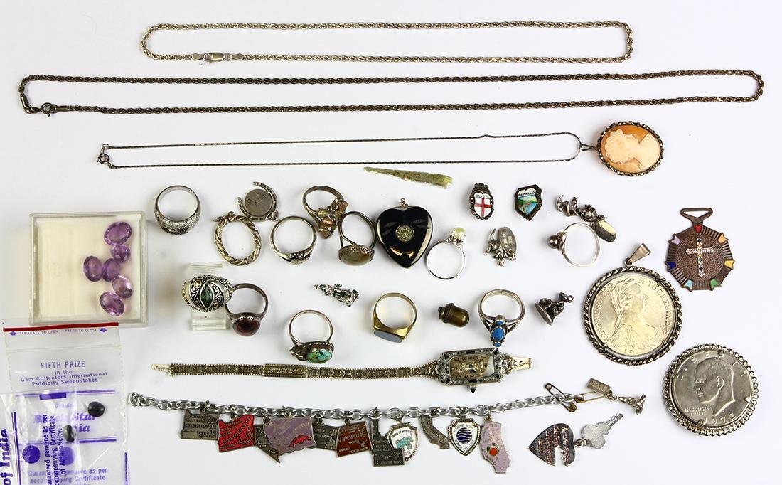 Collection of multi-stone, silver, sterling silver and