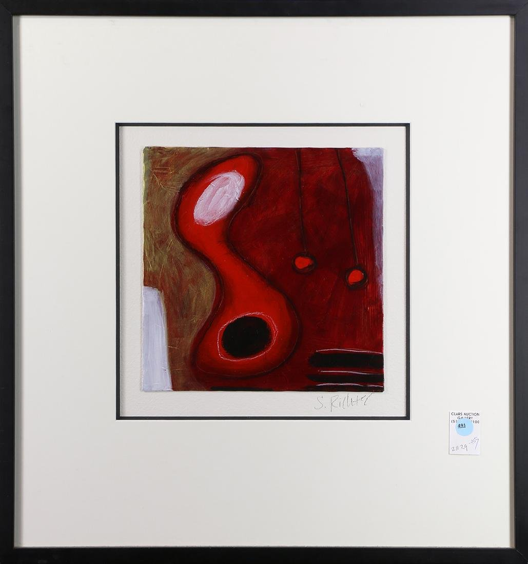 Mixed media, Untitled (Abstract in Red)