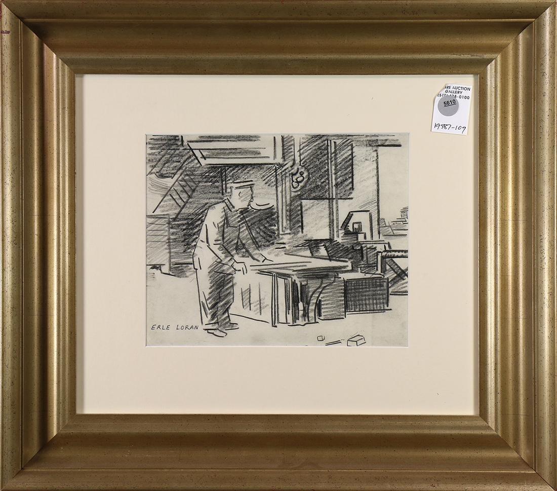 Drawing, Erle Loran
