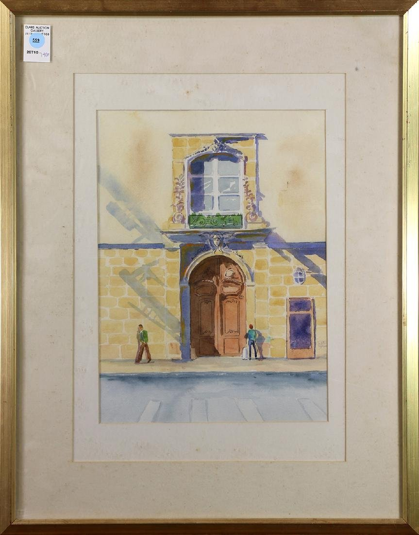 Watercolor, Building Exterior